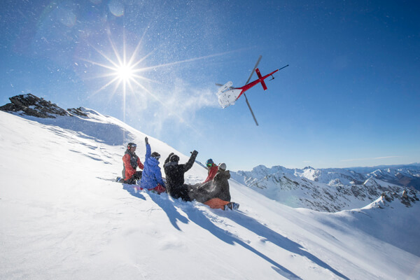 Harris Mountains Heli Ski Group Powder Skiing